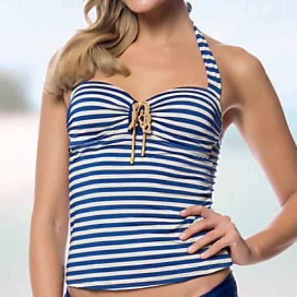 Jessica Simpson Other - Jessica Simpson Sweet Sailor Swim Top • Size M